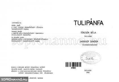 A Tulipánfa c. énekeskönyv belső címlapja - másolat