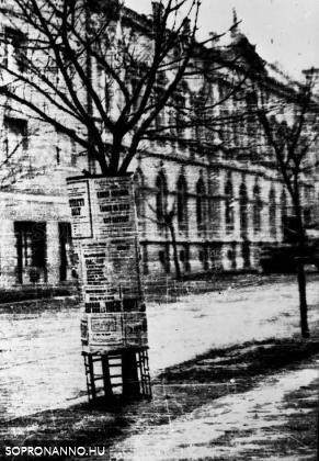 A Lackner Kristóf utca egy részlete