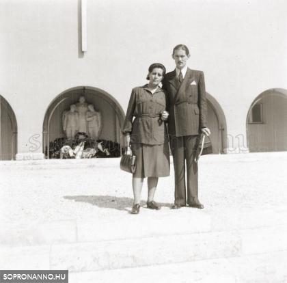 Ostoros György az édesanyjával, Szent István király előtt