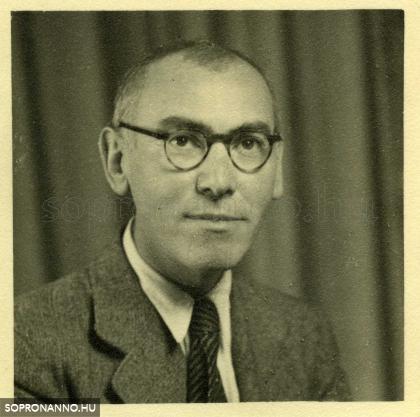 Csatkai Endre 1945 után. A fotó a Soproni Múzeum tulajdona.
