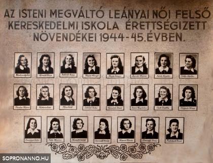 1945-ben végzettek tablója