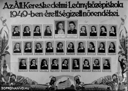 1949-ben végzettek tablója