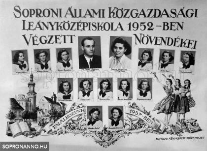 1952-ben végzettek tablója