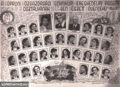 1955-ben végzettek tablója