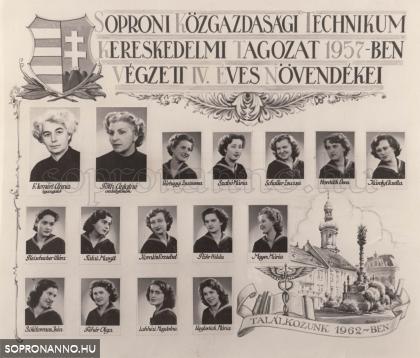 1957-ban végzettek tablója
