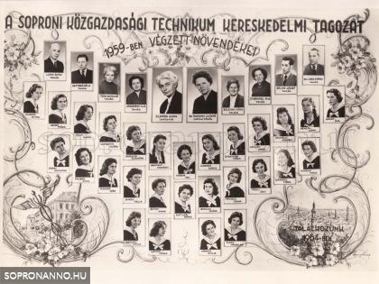 1959-ban végzettek tablója