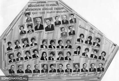 1966-ban levelezőn végzettek tablója