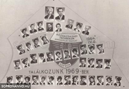 1964-ben végzettek tablója