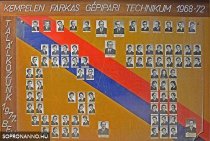 A Gépipari Technikum 1972-es tablója