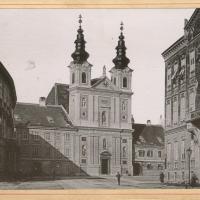 A Domonkos-templom és környéke az 1800-as évek végén