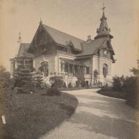 A Haller-villa 1890 körül