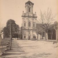 A Mennyek Királynője-templom az 1880-as évek végén