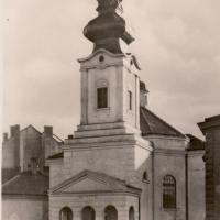 A református templom korabeli képeslapon