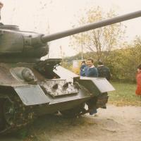 Tank a KRESZ-parkban