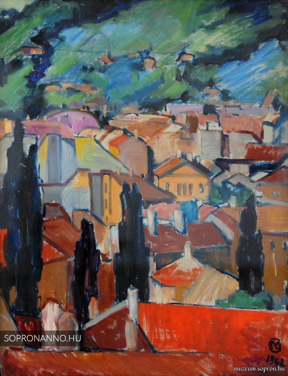 Mende Gusztáv: Látkép Sopronról