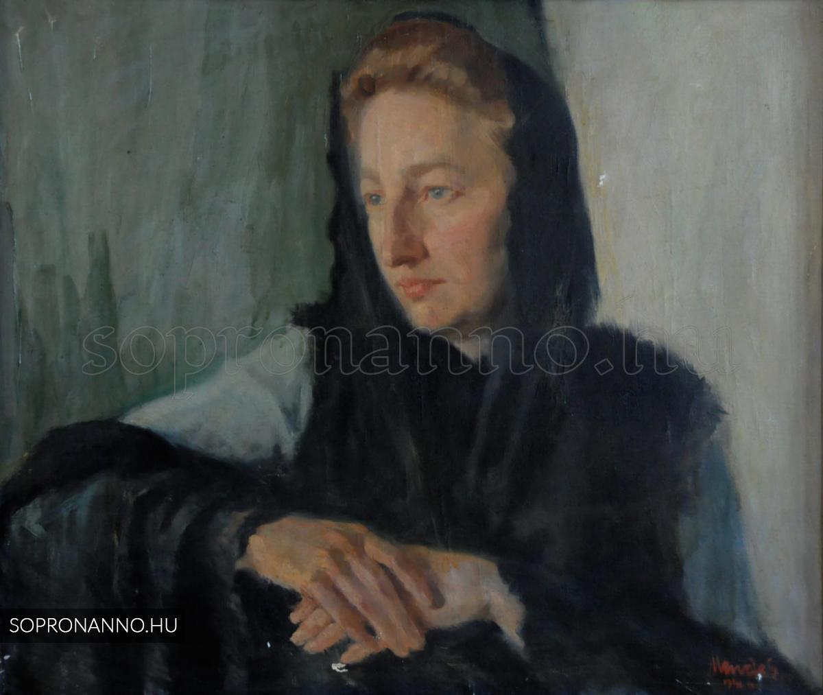 Mende Gusztáv: Feleségem arcképe