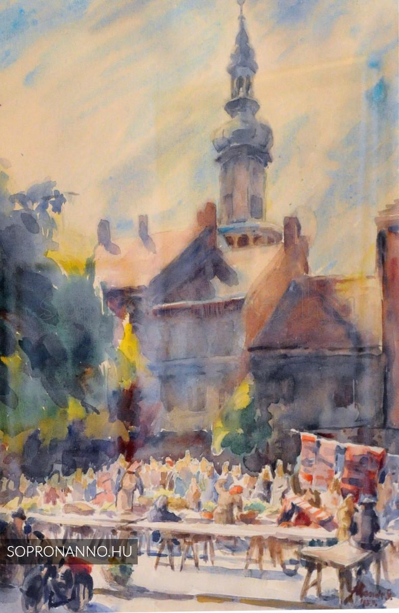 Mende Gusztáv: Soproni piac
