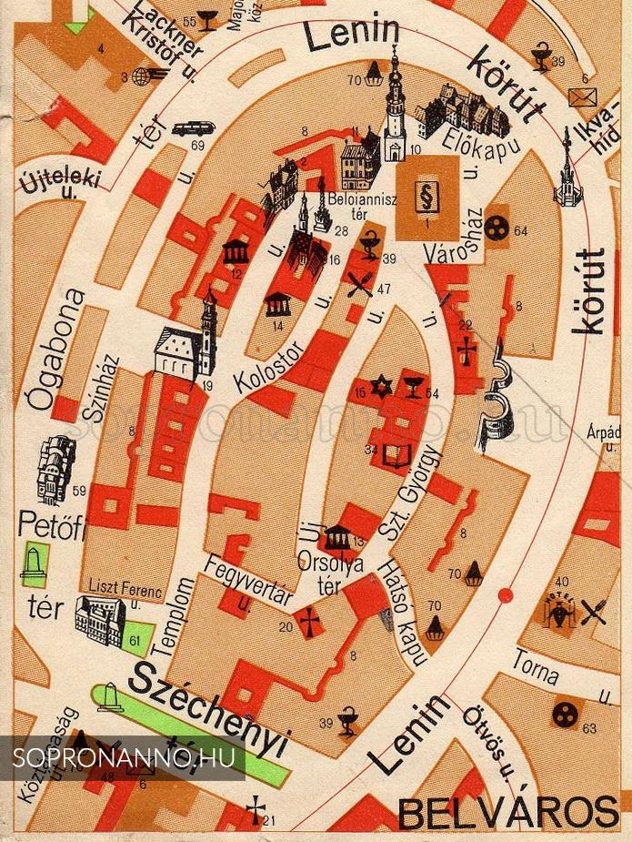 térkép sopron Buszpályaudvar az Ógabona téren   Sopron anno térkép sopron