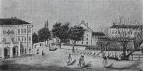 A Széchenyi tér és a Petőfi tér az 1850-es években