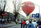 Hőlégballon a Petőfi téren